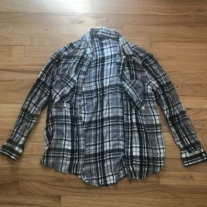 Oversized Grey/Black Express Flannel